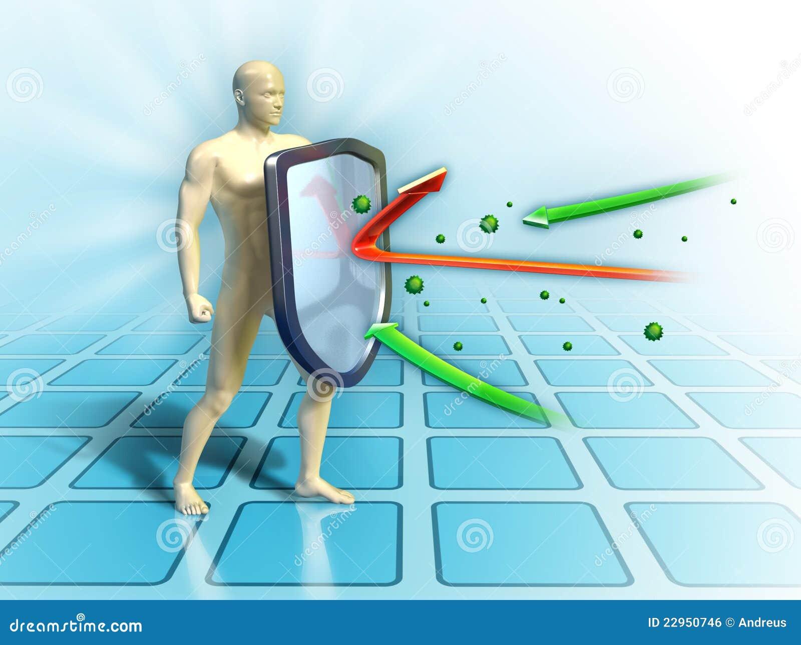 Immune Shield Royalty Free Stock Image - Image: 22950746