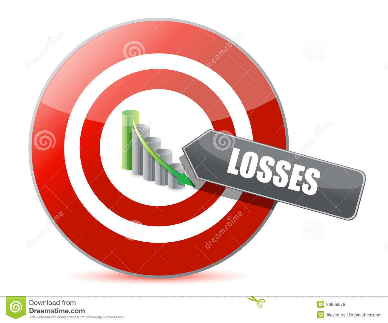 Problem - Targeting Losses Target Concept Royalty Free ...