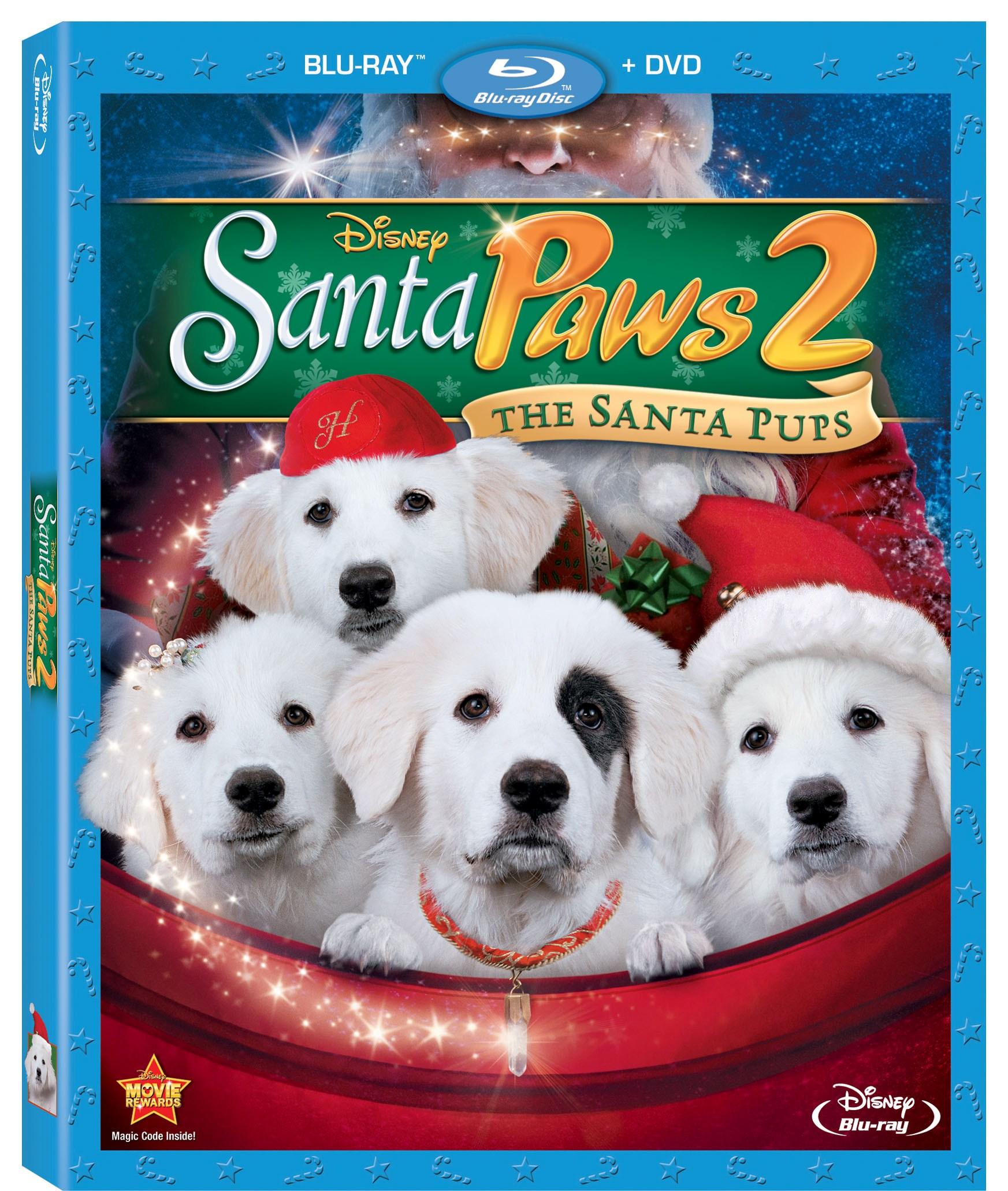 Disney's Santa Paws 2 The Santa Pups Blueray / DVD Giveaway