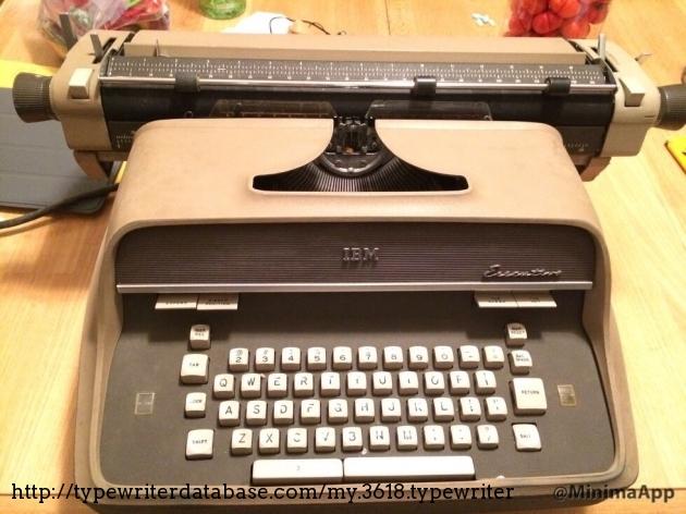 1960 IBM Executive on the Typewriter Database