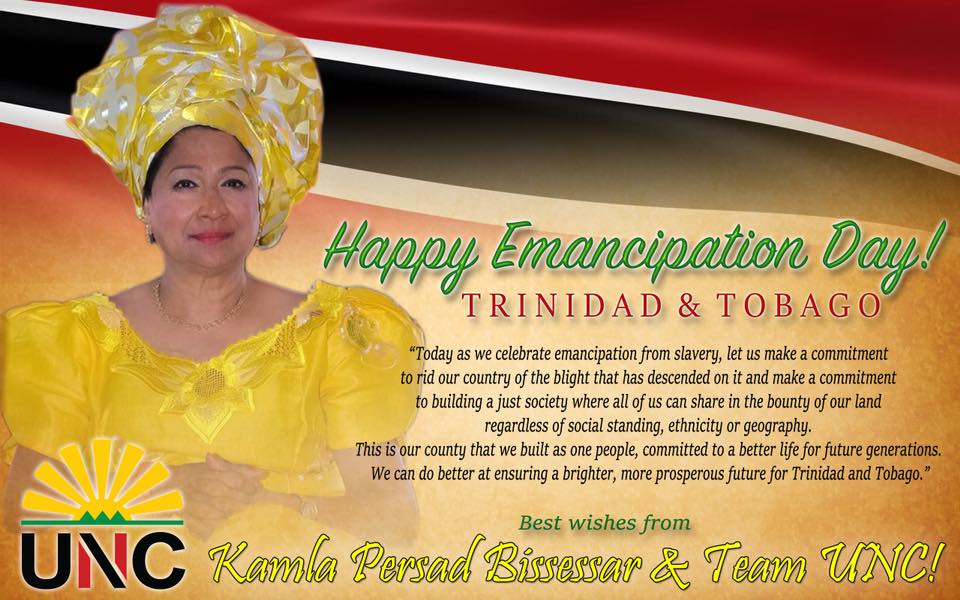 United National Congress » Emancipation Day Message 2018 ...