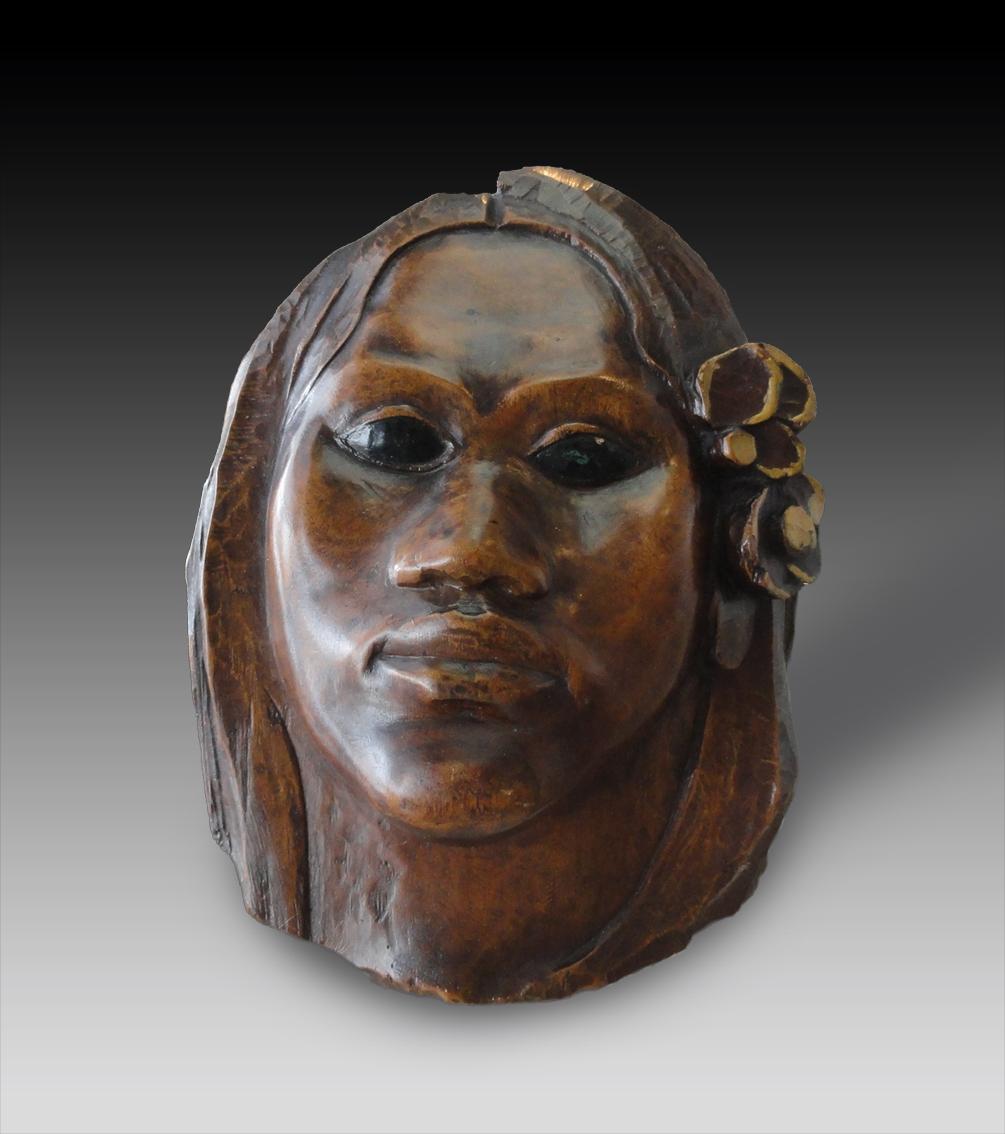 Paul Gauguin, ca.1891-1893, Tehura (Teha'amana), polychromed pua wood ...