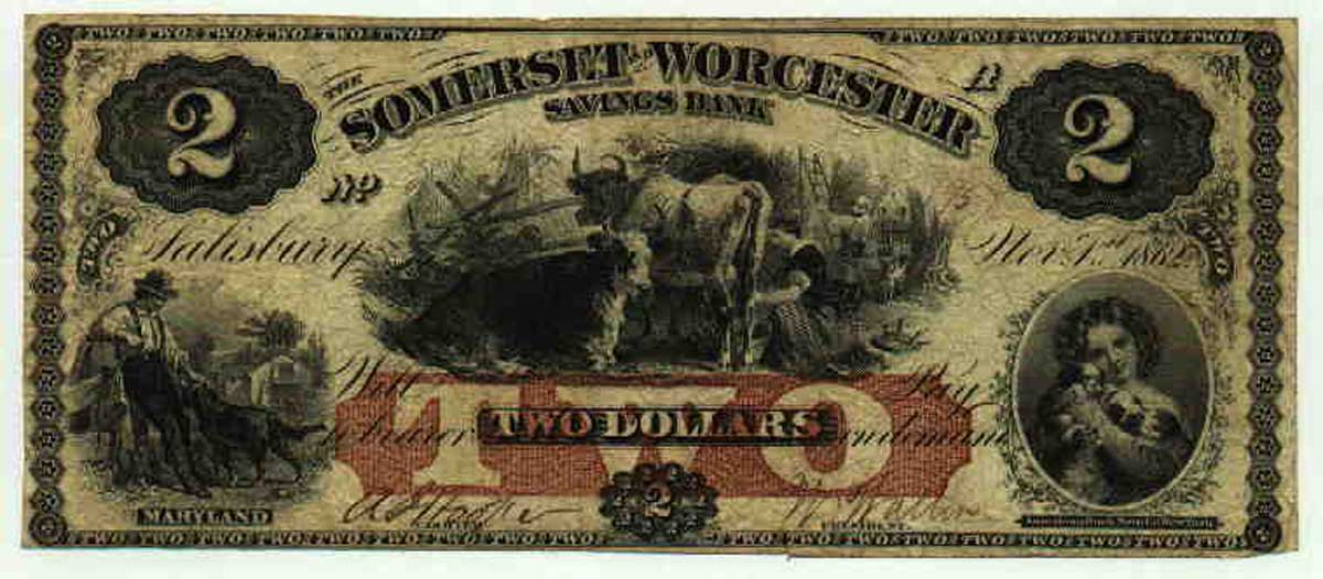 Antique Two dollar First Dollar History Post