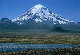 Il Sajama, la più alta vetta della Bolivia.