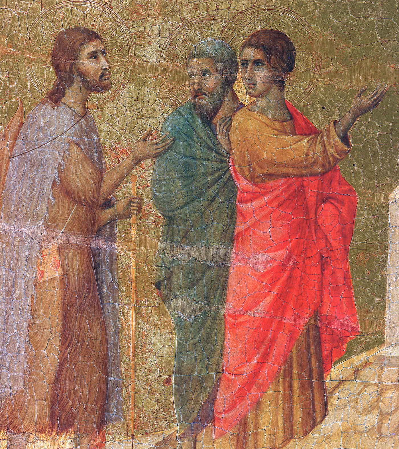Christ on the road to Emmaus (Fragment) - Duccio - WikiArt.org