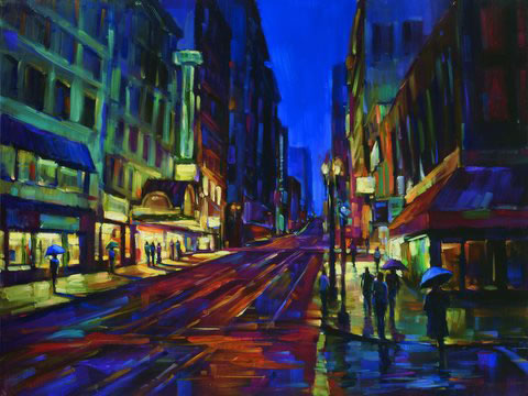 Michael Flohr's Limited Edition Giclees - Streets of Gold
