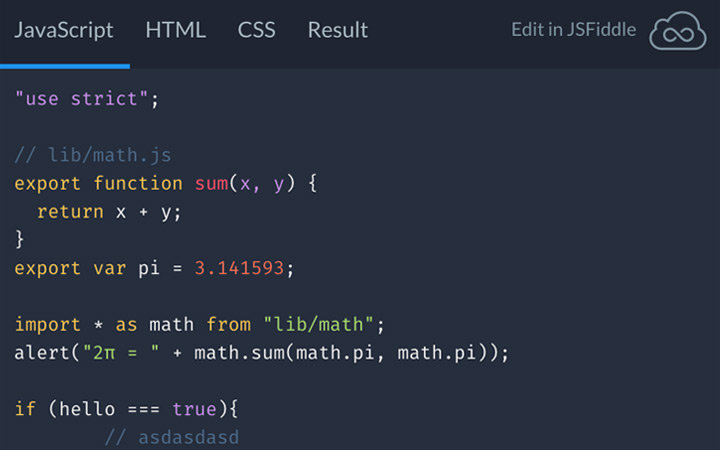JSFiddle Unveils New Code Embed Styles