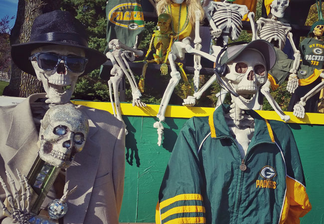 Meet the Man Behind the Annual Holy Hill Skeleton Display