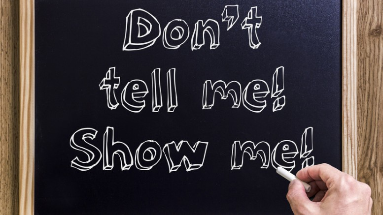 Show Don't Tell - Working Writers