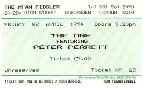 The One - Featuring Peter Perrett - Live at The Mean ...