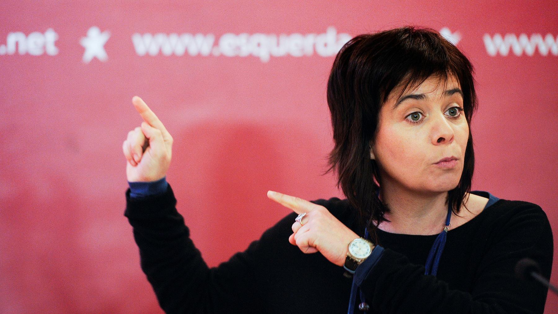 Catarina Martins (BE) acusou em Coimbra Passos Coelho de mentir