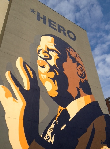 Mural of John Lewis in Atlanta, GA