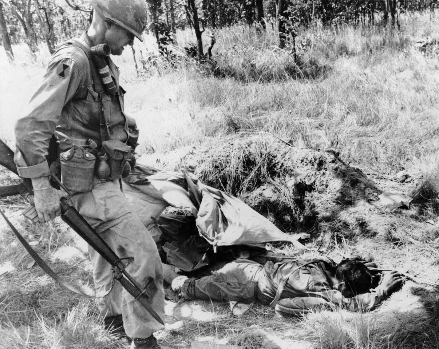 Inspecting Enemy Bodies - Ia Drang Battle
