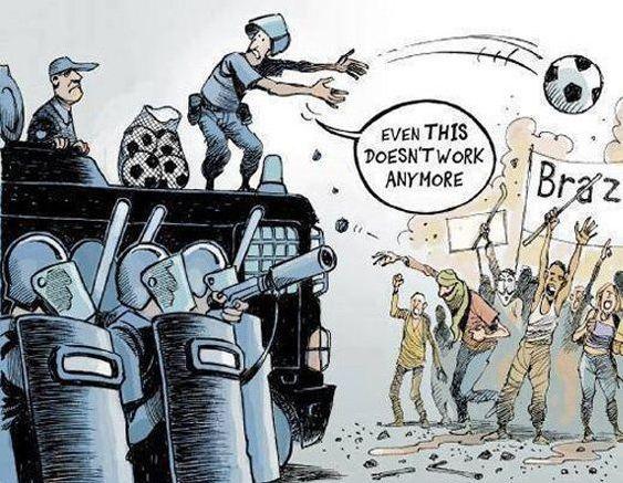 Funny riot in Brasil comic cartoon - Barnorama