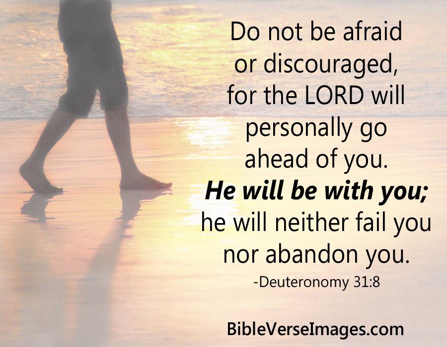Comforting Bible Verse - Deuteronomy 31:8 - Bible Verse Images