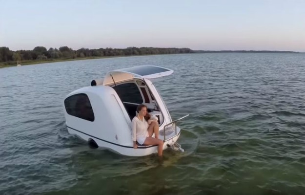 This Incredible Camper Transforms Into A Camper Boat
