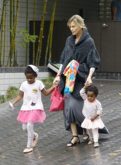 Charlize Theron & Her Kids Show Off Their Halloween Spirit ...