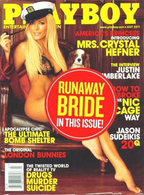 Hugh Hefner back with 'runaway bride' Crystal Harris, and ...