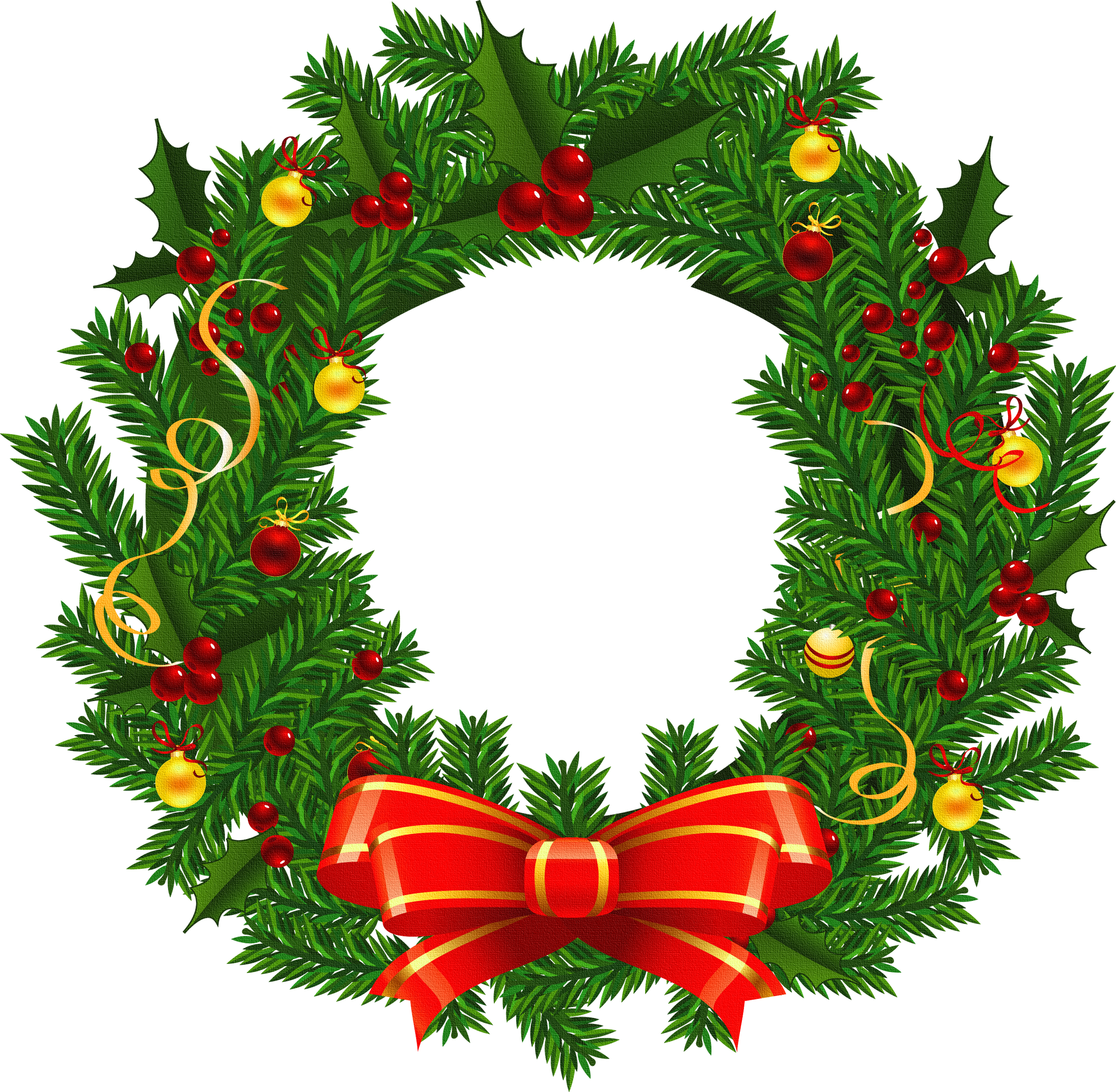 Large Transparent Christmas Wreath PNG Picture - ClipArt ...