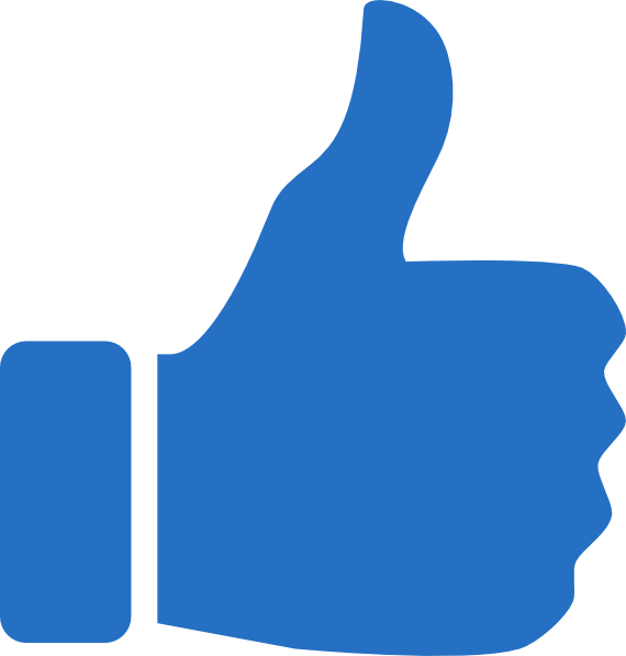 Thumbs Up Icon Blue clip art