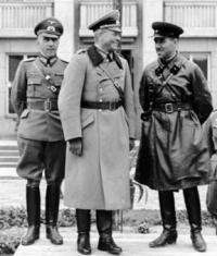 German Gen. Heinz Guderian (front left) and Soviet Gen. Semyon ...