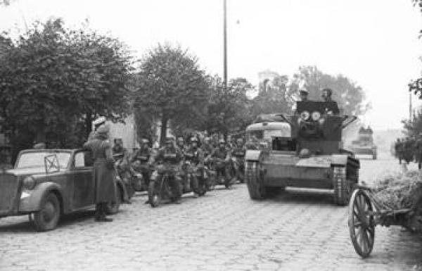 ... Soviet tanks at joint German-Soviet victory parade, June 22, 1939, in