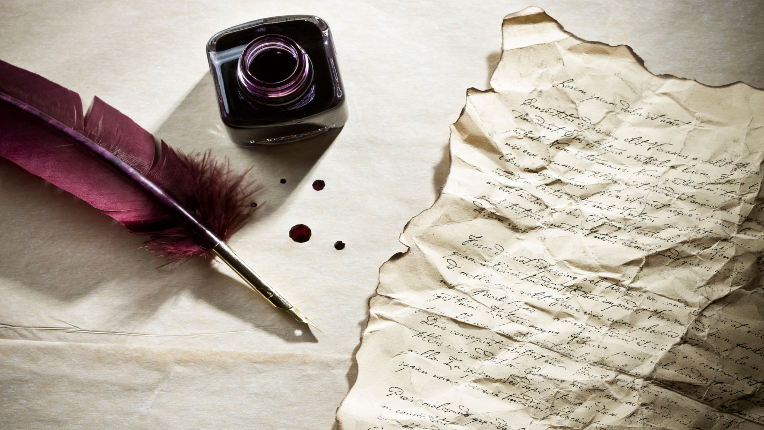 feather-pen-writing-letter-with-ink-bottle-HD-wallpapers – Colby's ...
