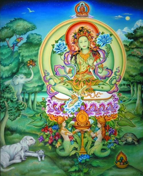 Inspiration, Green Tara, Bubbles, Nagini, Buddha