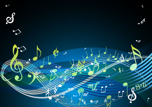Free Vectors: More Colorful Musical Notes | Designfreebies