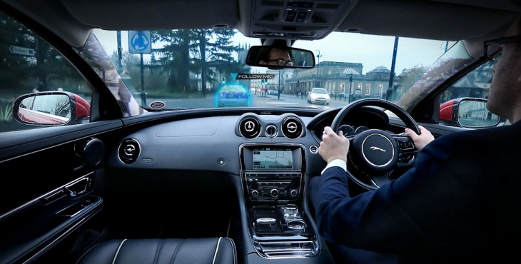 Jaguar experiments with 'ghost car' and 'see-through pillar' technology