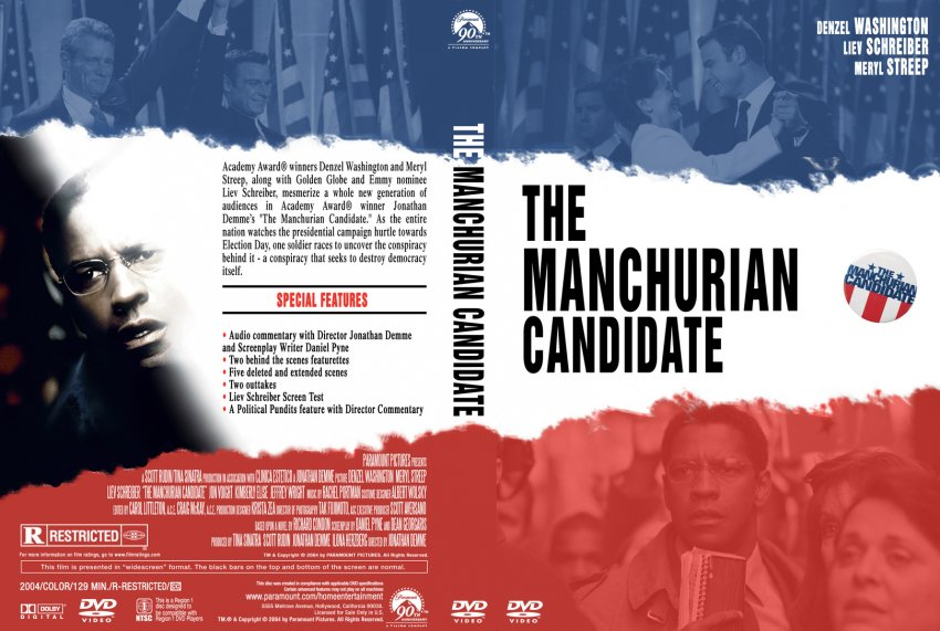 The Manchurian Candidate - Movie DVD Custom Covers - 452The Manchurian ...