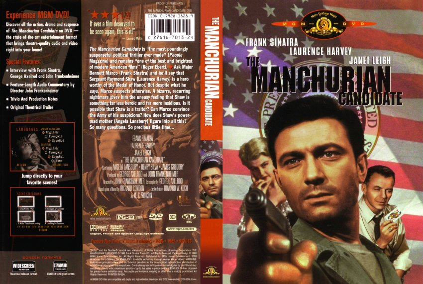 ... Scanned Covers - 1560The Manchurian Candidate 1962 Cover :: DVD Covers
