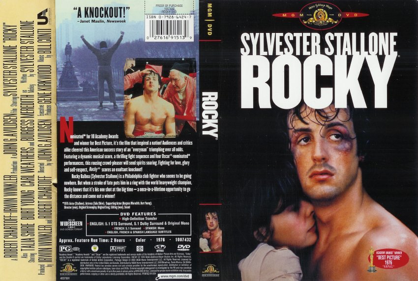 Rocky - Movie DVD Scanned Covers - 262scan00331 :: DVD Covers