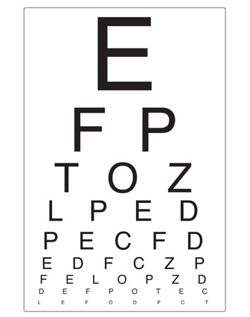 Eye Chart | Opticians Role Play | Free Early Years ...