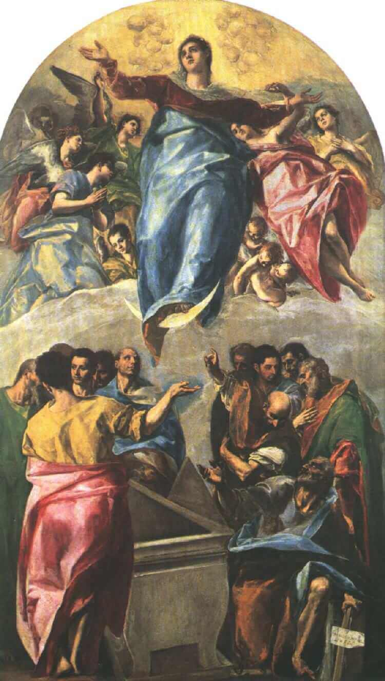 Assumption of the Virgin, 1577 by El Greco