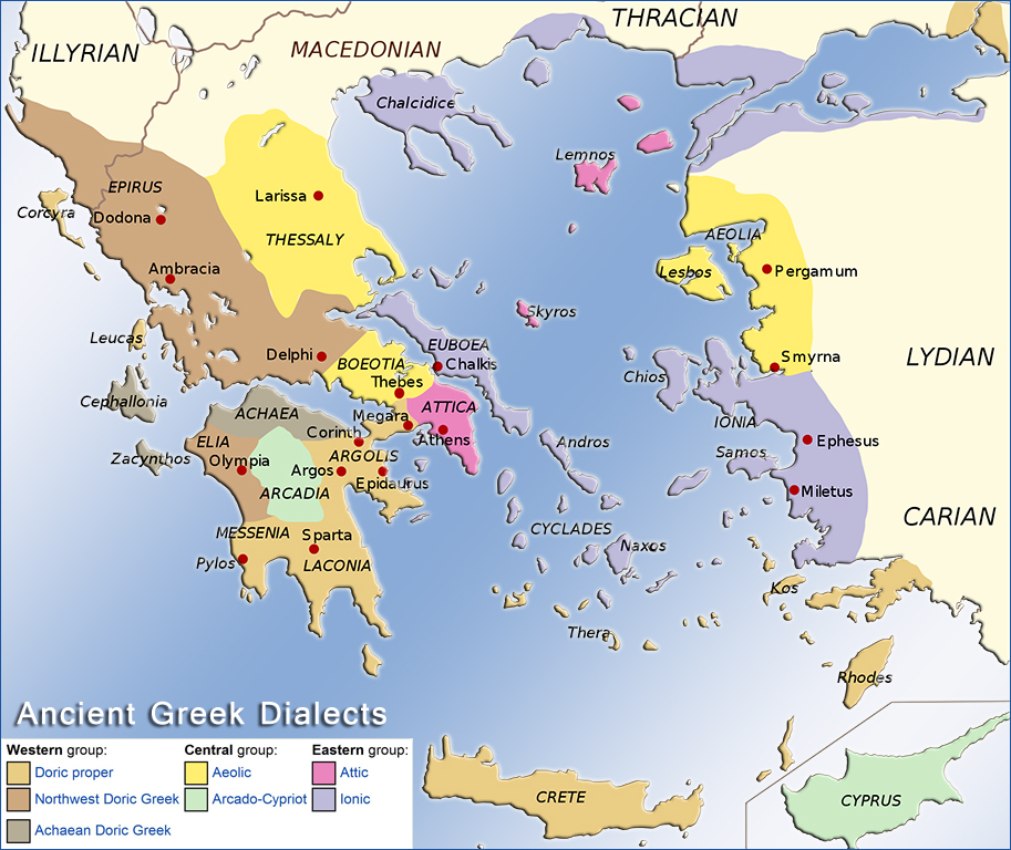 Historical Maps of the Ancient Greece