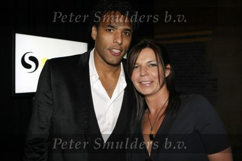 Pierre van Hooijdonk with cute, Wife Corine van Hooijdonk