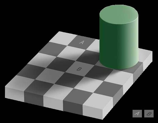 Figure 0.1. Thechessboard illusion: areas A and B on the board have ...