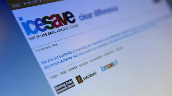 La page d'accueil du site de la banque en ligne Icesave, en octobre ...
