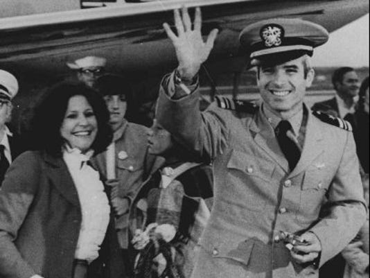 John McCain arrived at Jackson Naval Air Station on March 18, 1973 ...
