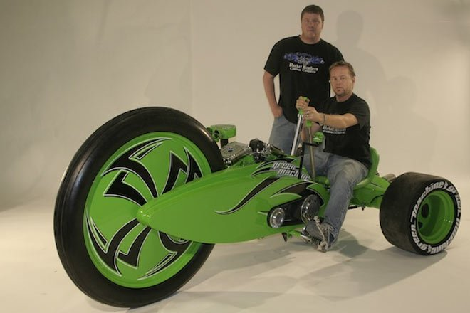 Real-Life Tron Lightcycle Creators Build Green Machine ...