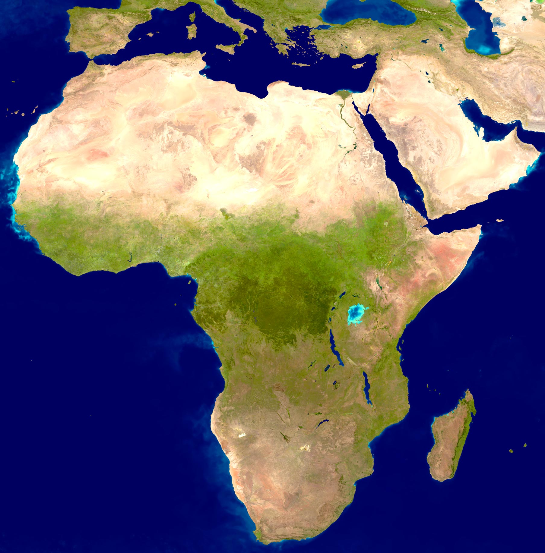 Africa Image, Sahara Desert and Forests