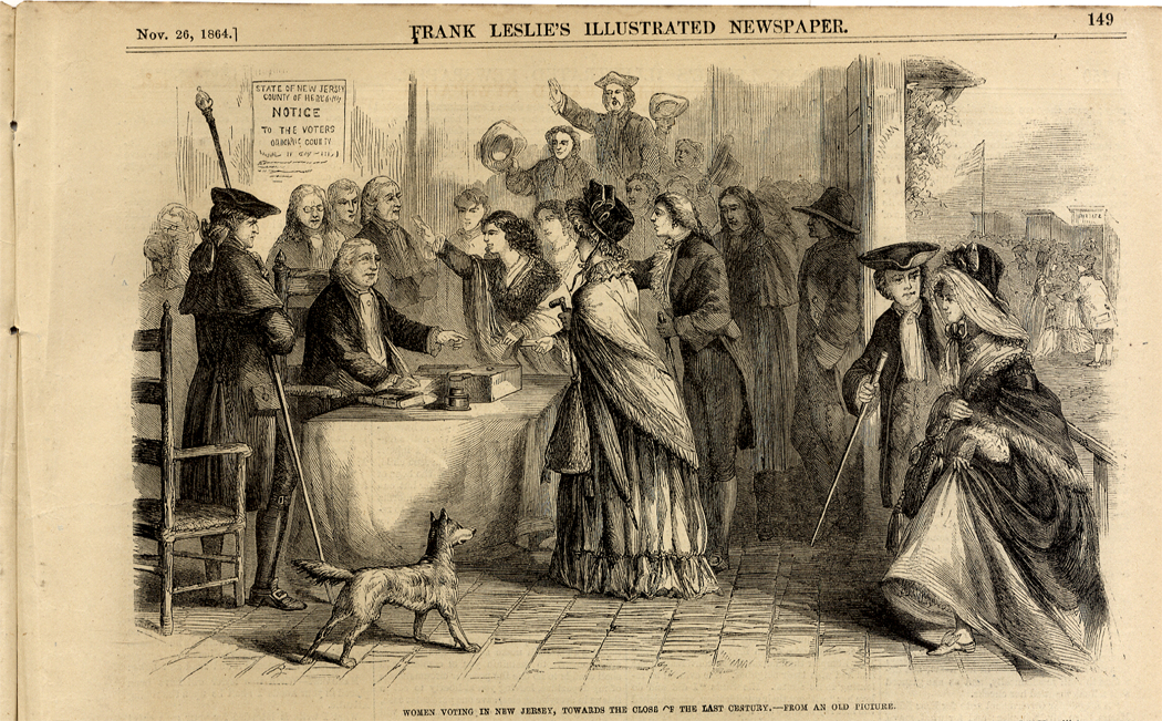 Lot Detail - Women Voting in New Jersey in the 18th Century