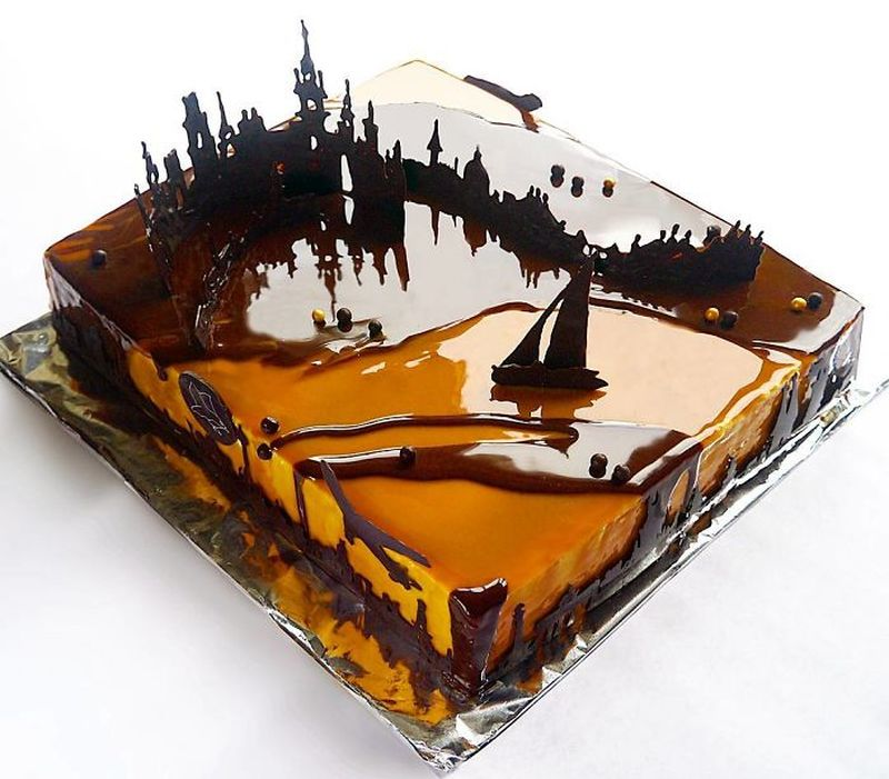 Russian student creates incredible mirror glaze cakes in ...