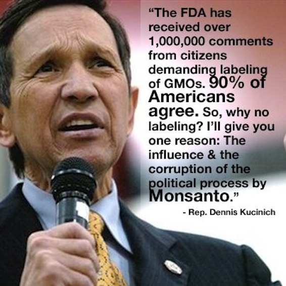 Rep. Dennis Kucinich On Americans Demanding The Labeling ...