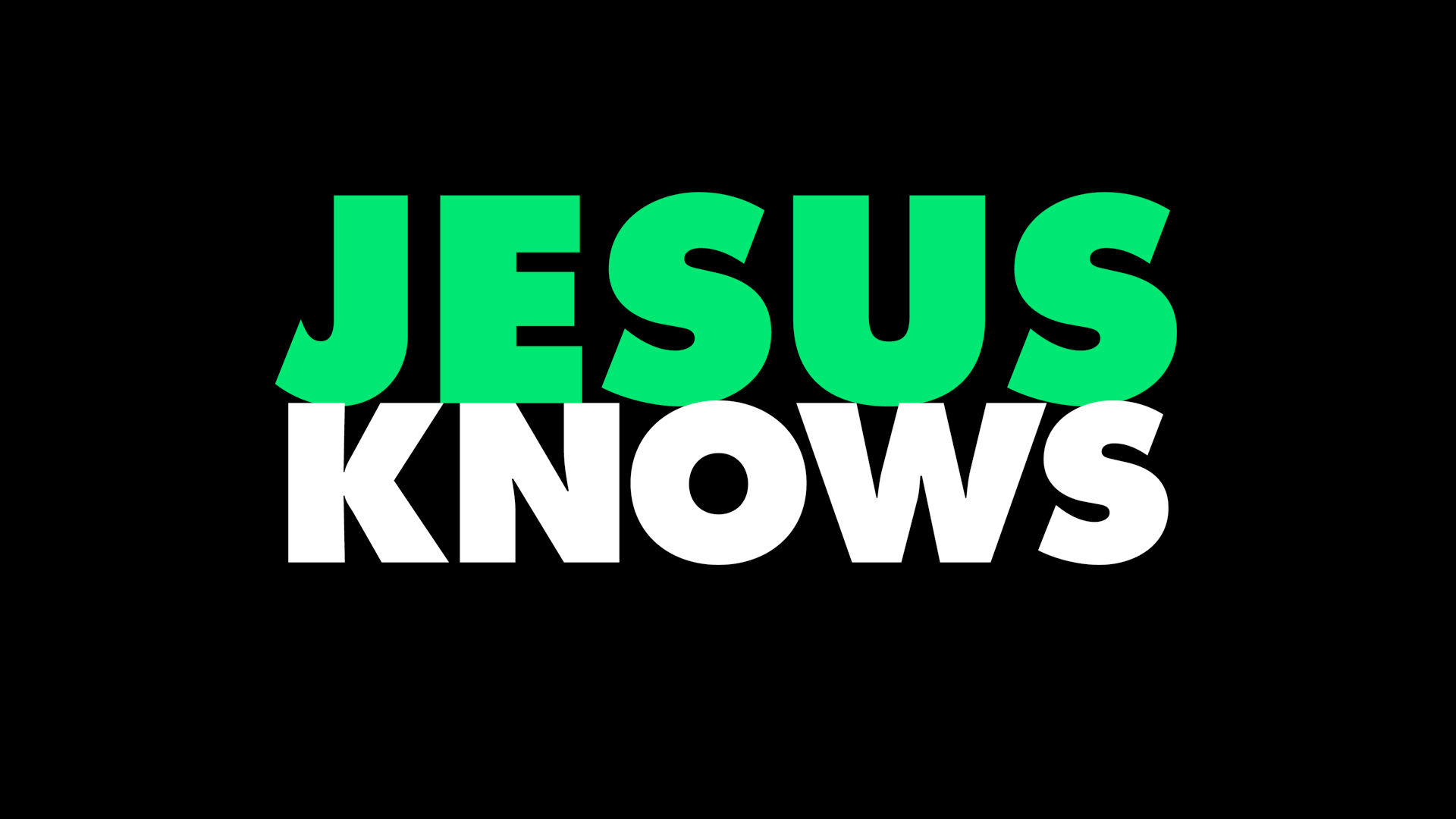 He Knows - In God's Image