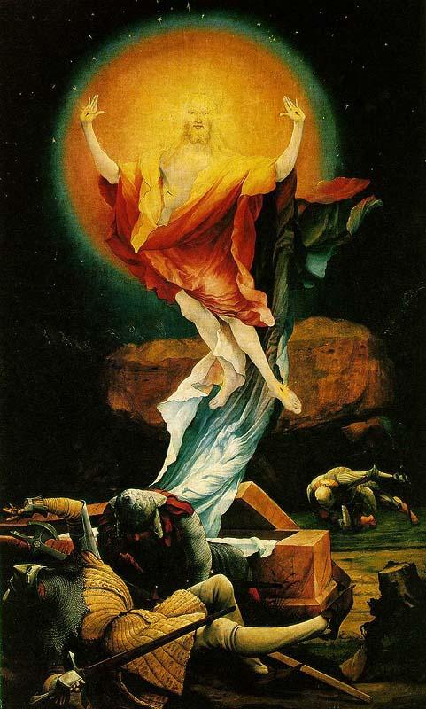"Resurrection"" (1512-1516), by Matthias Grnwald (German painter, c ..."
