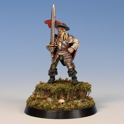 Mordheim Freelance Knight (+ base tutorial)