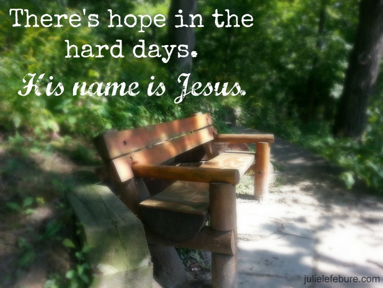 Sunday Truth: Hope In The Hard Days - Julie Lefebure