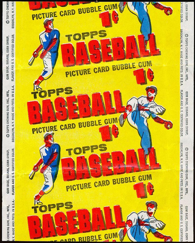 Lot Detail - 1956 Topps Baseball 1 Cent Wrapper